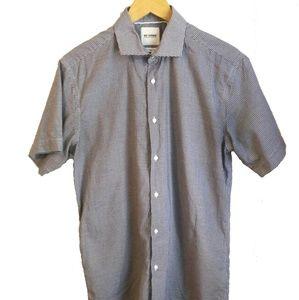 MEN Ben Sherman Slim Fit Short Sleeves Shirt, as L